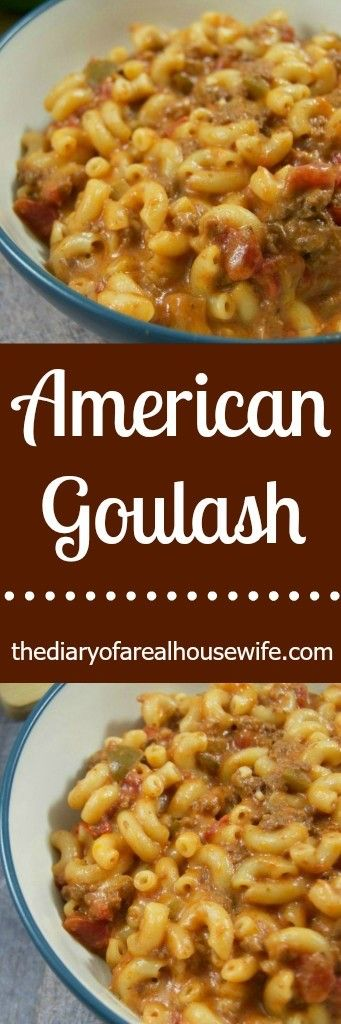 American Goulash. This dinner recipe is a winner!! My entire family loved it and it is so simple to put together.