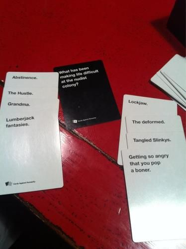 Cards against humanityParty Games, Humanity Awesome, Perfect Games, Card Games, Cards Games, Christmas Gift, Cards Against Humanity, Parties Games