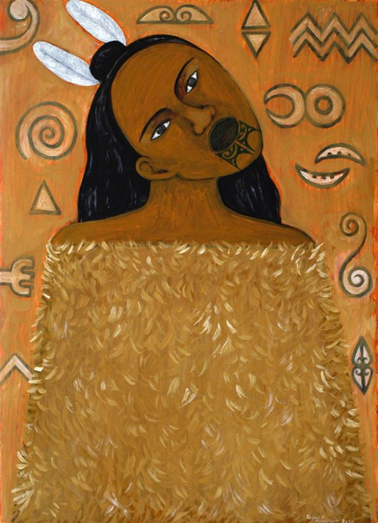 Hine (Feather Cloak) by Robyn Kahukiwa