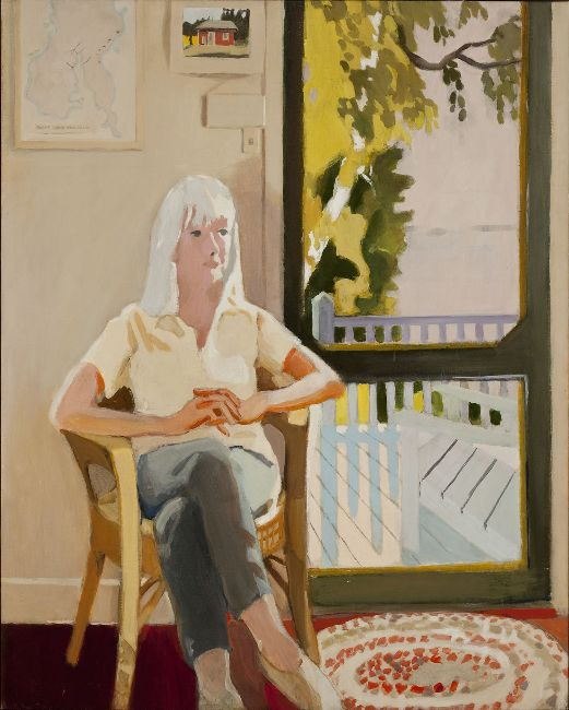 Fairfield Porter - Aline by the Screen Door