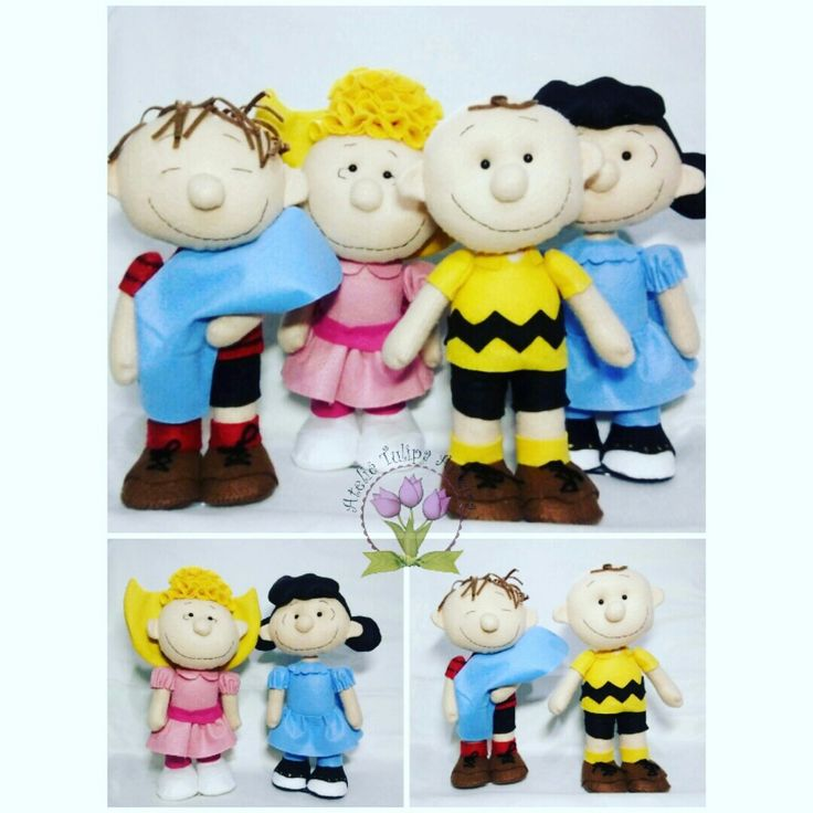Snoopy e sua turma em feltro #charliebrown #Snoopy #sally #lucy #linus #woodstock #snoopyecharliebrown #peanuts #snoopyesuaturma #feltdecor #feltrodecorfesta
