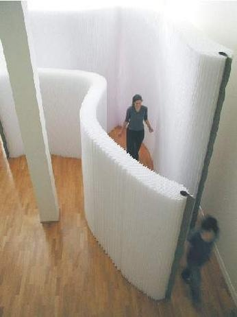 Soft movable wall partition