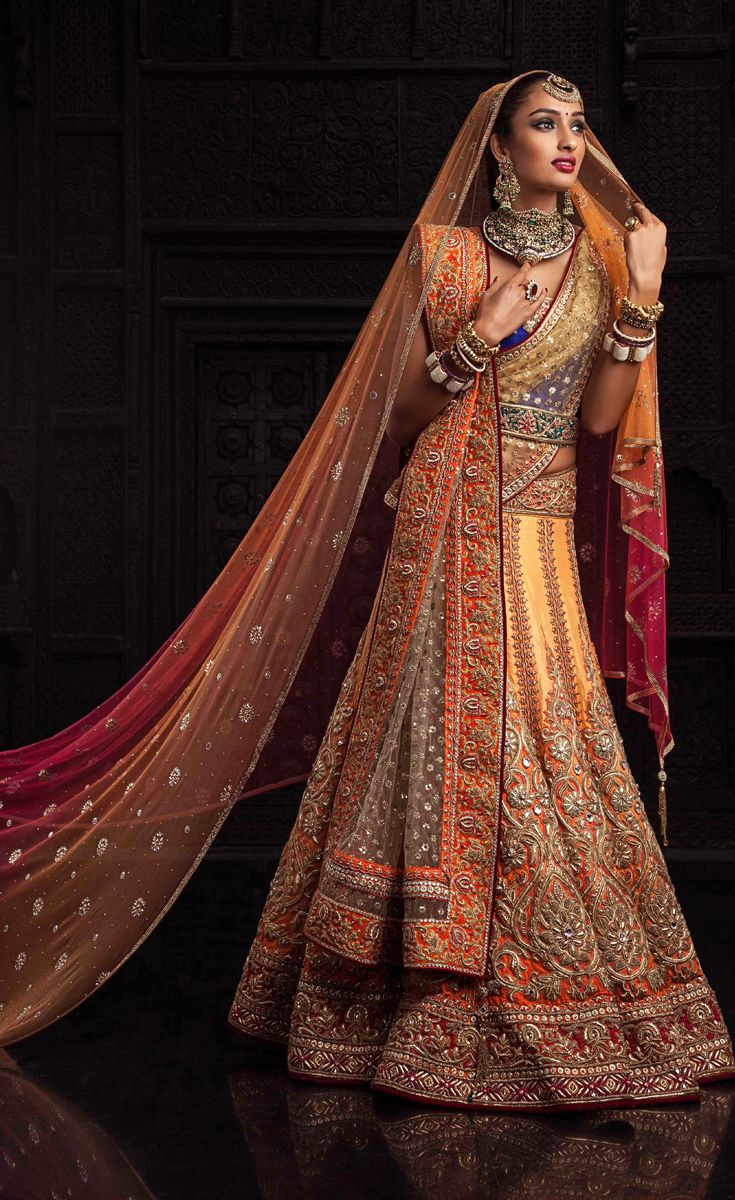 Indian wedding is the most favorable occasion when different rituals can be seen where a bride looks more gorgeous on a designer lehenga.