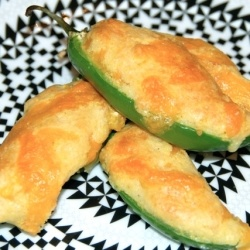 Jalapeno Cornbread Poppers by jessfuel...Two of my favorite things to eat.  Cook a crockpot of Pinto beans and I'm done.