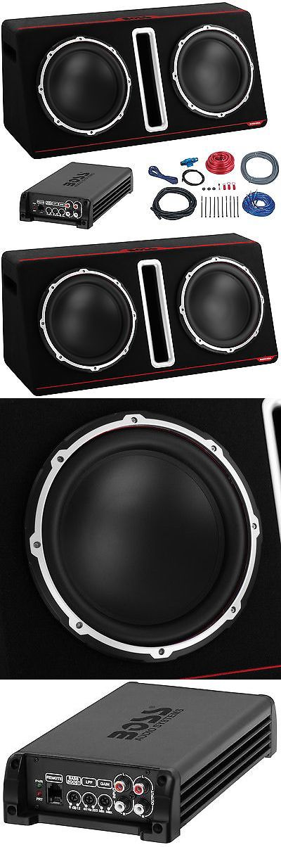 Car Subwoofers: Boss 12 800W Dual Loaded Car Audio Subwoofer With Box Enclosure+Amp+Kit Package -> BUY IT NOW ONLY: $169.99 on eBay!
