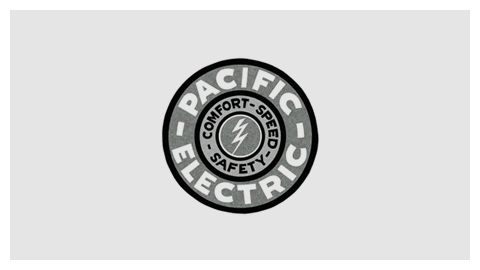 Pacific Electric — part of a collection of railroad company logos curated by Christian Annyas