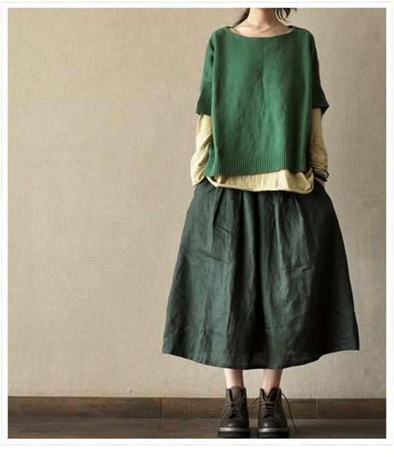 Loose Fitting Green Short Sleeve Shirt - Spring Dress(R) by deboy2000 on Etsy