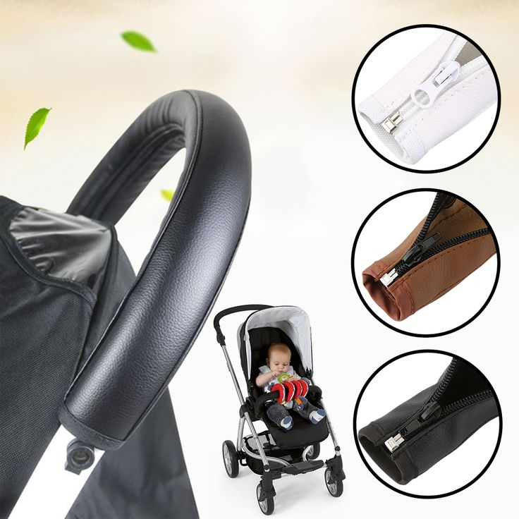 Baby Pram Accessories Stroller Armrest PU Leather Protective Case Cover For Arm Covers Handle Wheelchairs
