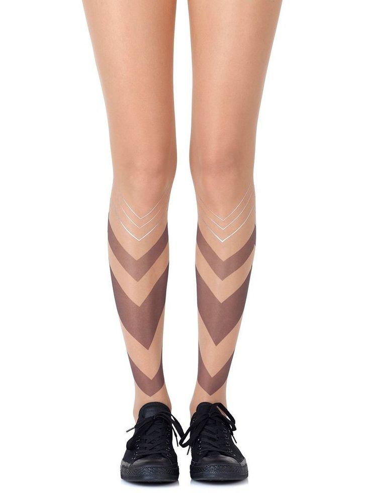 Sheer Luck Tights #Black #Graphic #Metallic