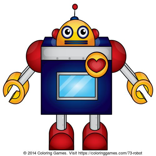 Robot Coloring Page Online Game For Kids