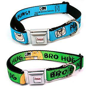 ThinkGeek :: Adventure Time Dog Collars