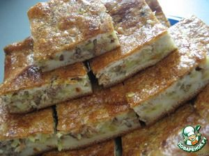 """Экспресс-пирог Ингредиенты для """"Экспресс-пирог"""": Мука (тесто) — 1 стак. Кефир (тесто) — 1 стак. Яйцо (2 шт.-тесто; 2 шт.-заливка) — 4 шт Майонез (в заливку) — 2 ст. л. Консервы рыбные — 1 бан. Сода — 1/2 ч. л."""
