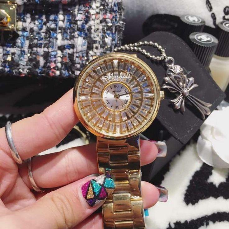 New Fashion Women Watches Lady Diamond Dress Watch Stainless Steel Full Rhinestone Bracelet Wristwatch ladies Crystal Watch