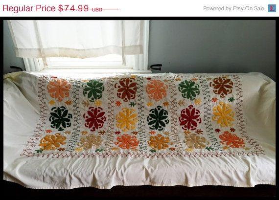 """50 % Rabatt verkaufen Vintage Suzani Stil bestickte Tagesdecke/Textil-91 """"von 51"""""""
