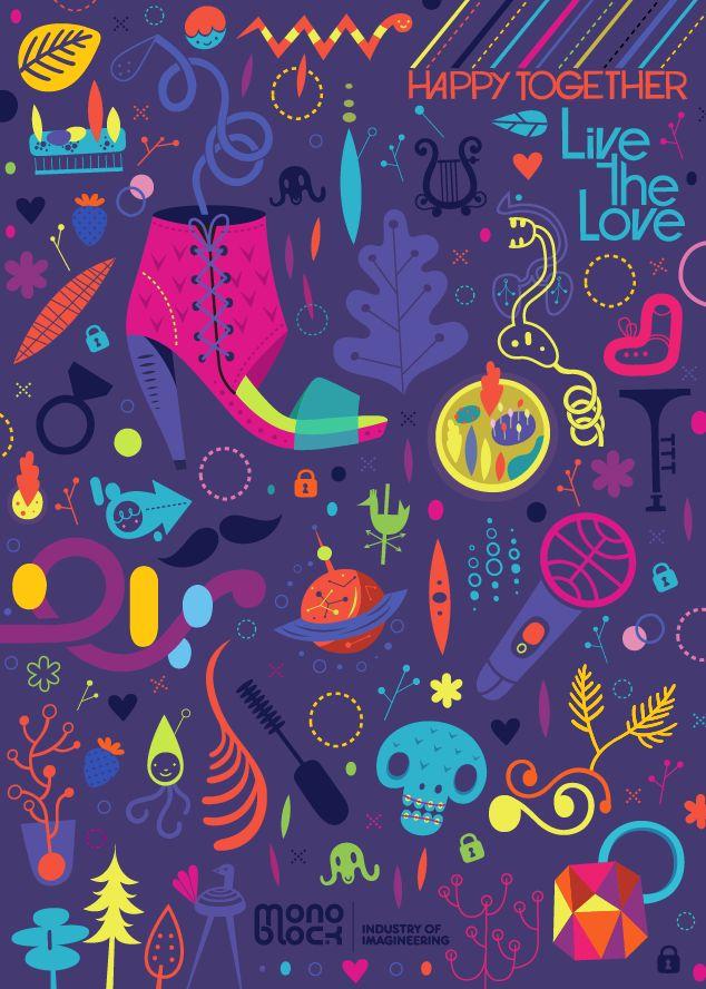 LIVE THE LOVE NOTEBOOK - Colorblok inc.