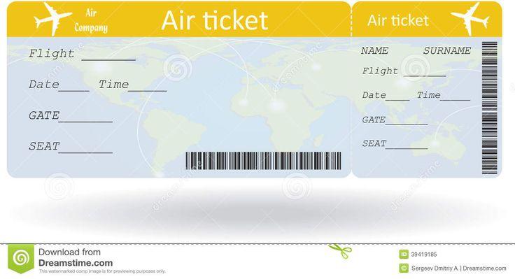 boleto de avion en blanco - Buscar con Google