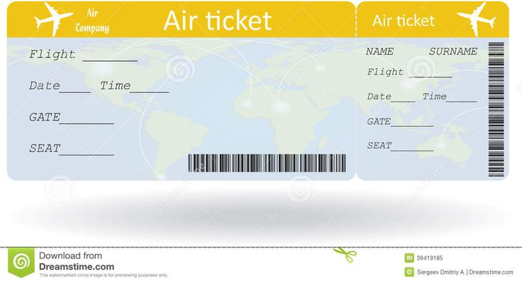 international plane ticket template - Google Search