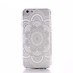 witte mandala bloempatroon ultradunne TPU soft Cover Case voor iPhone 6 / 6s