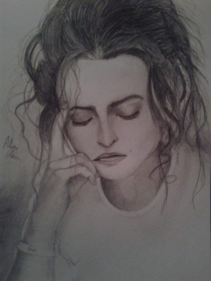 Helena Bonham Carter drawing