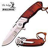 "8"" ELK RIDGE Wood Gentleman SPRING ASSISTED OPEN Hunting Folding POCKET KNIFE | www.outdoorsupplyguy.com"