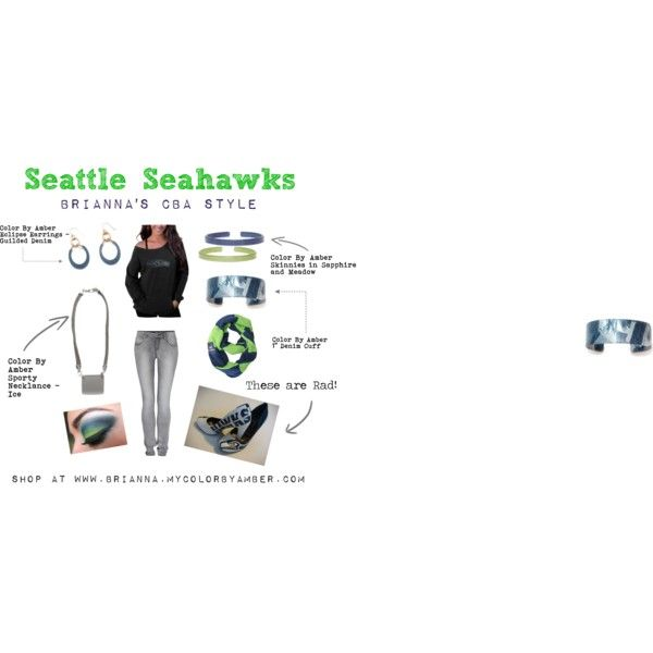 """Seattle Seahawks Style - Color By Amber"" by brianna-holland on Polyvore"