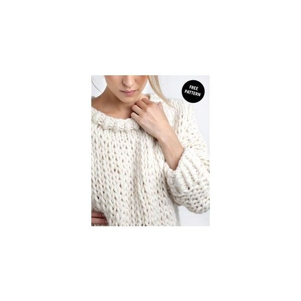 Megan Oversized Knit Sweater ❤ liked on Polyvore featuring tops, sweaters, oversized sweaters, over sized sweaters, oversized tops, oversized knit sweaters and white sweater