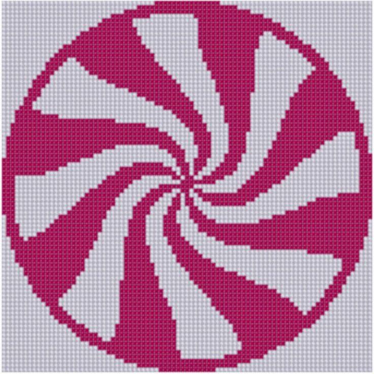 Mother Bee Designs: Peppermint Cross Stitch Pattern