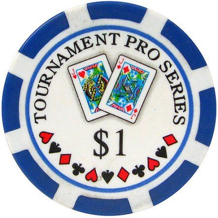 Phil Hellmuth Jr. Tournament Pro Series Poker Chips, Set of 50, Blue