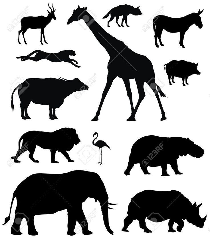 afrikaanse dieren zwart - Google zoeken