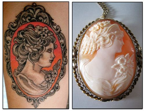 25 unique cameo tattoo ideas on pinterest frame tattoos for Sweet chest tattoos