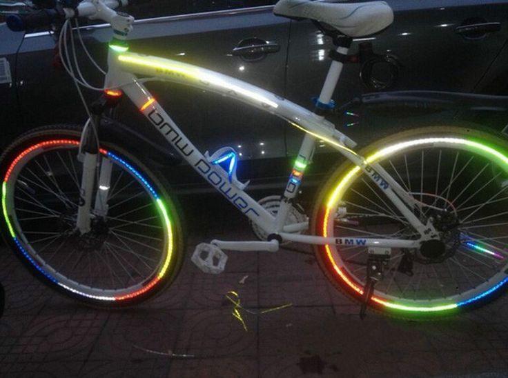 Pneu de bicyclette autocollants réfléchissants 26 pouce vtt accessoires d'équitation matériel léger