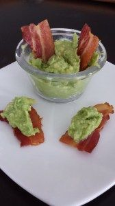 Paleo Chips and Dip - guacamole on bacon - perfect for Cinco de Mayo!