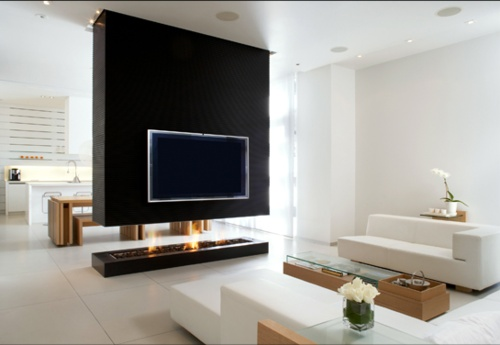 :: FIREPLACES :: INTERIORS :: Cecconi Simone personal home interior, love the fireplace concept, interested to know who the fireplace company was ... love that the fireplace is open #fireplaces #interiors