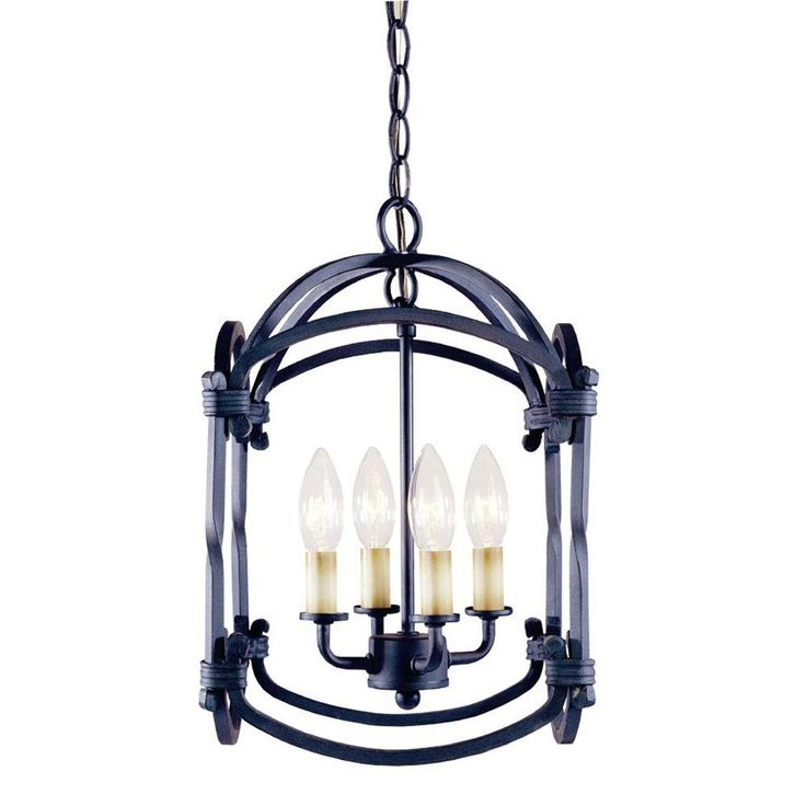 HD 148.00 World Imports Hastings Collection 4-Light Outdoor Rust Hanging Lantern  sc 1 st  Pinterest & 137 best Lake Lighting images on Pinterest | Indoor outdoor ... azcodes.com
