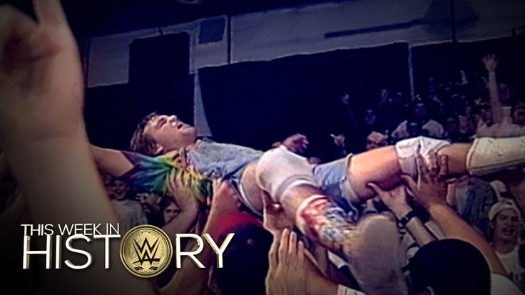 Spike Dudley crowdsurfs at the ECW Arena: This Week in WWE History, Sept. 22, 2016 - http://newsaxxess.com/spike-dudley-crowdsurfs-at-the-ecw-arena-this-week-in-wwe-history-sept-22-2016/