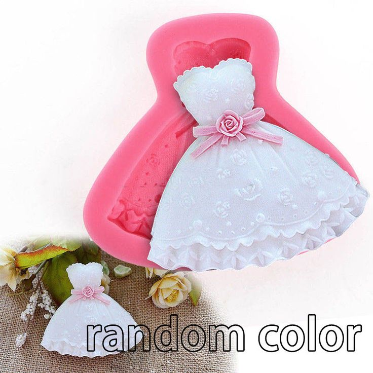 3D Dress Shape Silicone Lace Fondant Mold Sugar Candy Cake Decorating Mould Tool #Unbranded