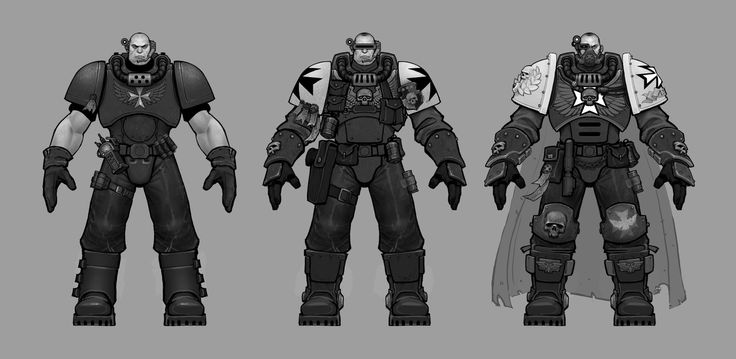 ArtStation - Space Marine Scouts, Ted Beargeon