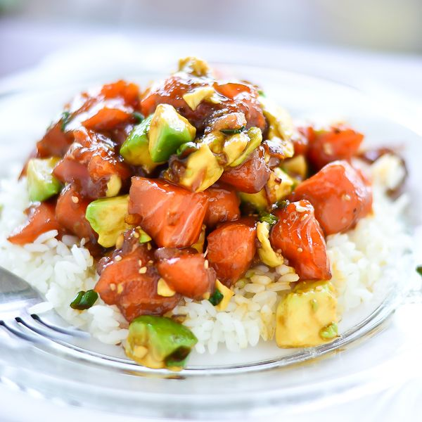 Salmon & Avocado Poke Bowl by @Sunil Kanderi Kanderi Mehra Putzing Around the Kitchen
