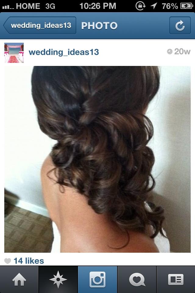 Bride or bridesmaid side ponytail