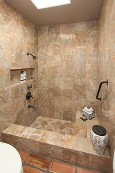 Mediterranean Home Shower Tub Combination Design Pictures Remodel Decor And Ideas Sunken Tub