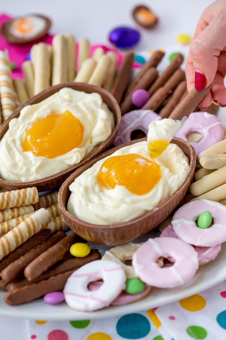 Save this Easter dessert recipe to make a Giant Cadbury Creme Egg Cheesecake Dip.