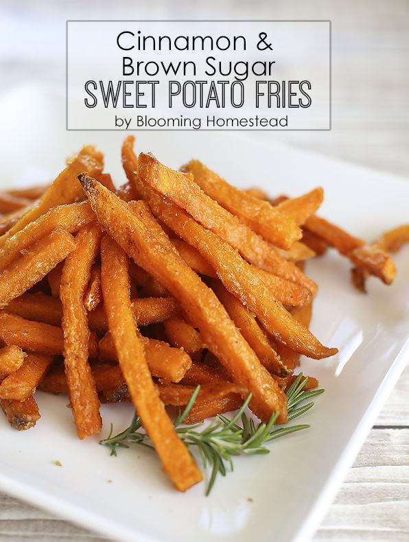 Cinnamon and Brown Sugar Sweet Potato Fries- Easy way to hack frozen fries!