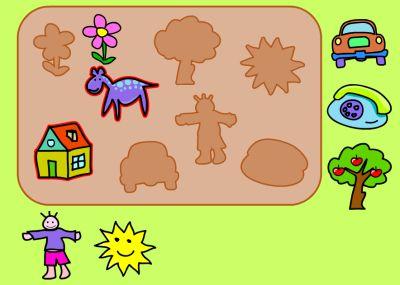 Actividades para Educación Infantil: Colocamos en su sitio