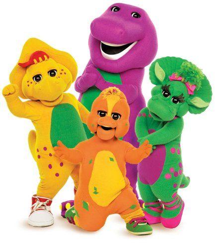Barney the Purple Dinosaur  Friends ~ Edible Image Cake, Cupcake Topper!!!