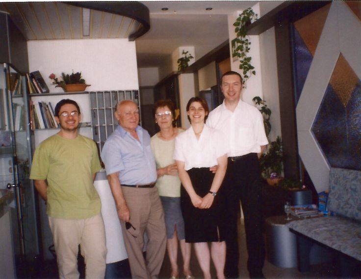 Fatma, Giorgio, Anna and Domenico with a regular guest at the #HotelRudyCervia