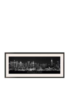 Art.com Assorted Manhattan at Night New York City Framed Art Print - Online Onlybr