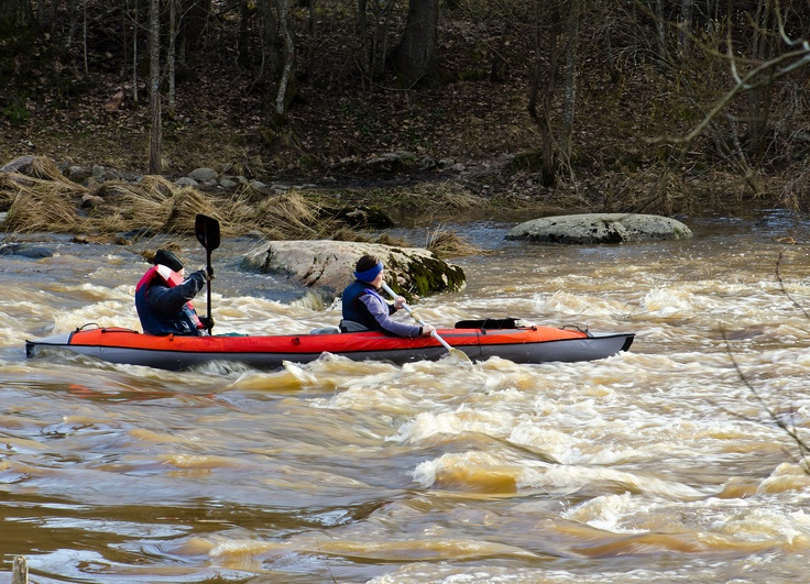 in the rapids kayakers