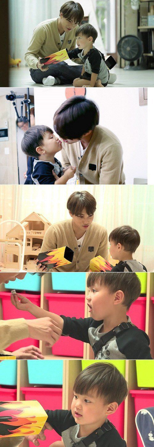 'Oh My Baby' shares adorable pictures of EXO Kai's meeting with his mini lookalike Teo   allkpop
