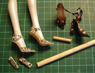 Fashion Doll sandalias