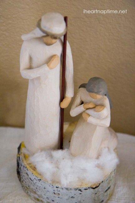 DIY #pallet art tutorial and a #Christmas #Nativity scence on iheartnaptime.net